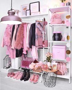 Girl Bedroom Designs, Room Ideas Bedroom, Girls Bedroom, Bedroom Decor, Bedrooms, Study Room Decor, Cute Room Decor, Pink Wardrobe, Wardrobe Closet