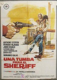 LG11 UNA TUMBA PARA EL SHERIFF ANTHONY STEFFEN FAJARDO SPAGHETTI POSTER ORIGINAL ESPAÑOL 70X100 - Foto 1