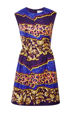 Tri Printed Silk-Jersey Dress by Peter Pilotto - Moda Operandi ~African fashion, Ankara, kitenge, African women dresses, African prints, African men's fashion, Nigerian style, Ghanaian fashion ~DKK