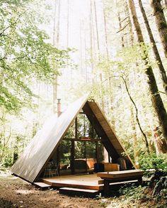A-frame cabin in Skykomish, Washington. photo by Jessica Olm