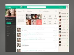 Grouply - Web design interface UI UX