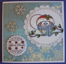 Little Claire Designs Christmas Owls, Claire, Christmas Cards, Decorative Plates, Projects To Try, Delicate, Stamp, Blossoms, Design