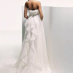 The back of the Sailor Moon inspired wedding dress.