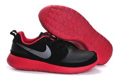 2015 fashion cheap nike roshe run black red men running shoes 40-44