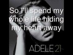 Adele - Hiding My Heart Lyrics - YouTube