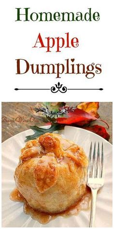 Homemade Apple Dumplings Is there anything better than a warm Homemade Apple Dumpling Not today there isnt! You ll love these easy delicious bundles of apple cinnamon bliss! Fruit Recipes, Apple Recipes, Fall Recipes, Dessert Recipes, Cooking Recipes, Apple Desserts, Amish Recipes, Asian Desserts, Fall Desserts