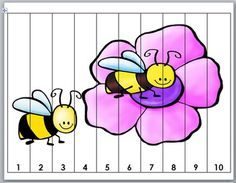 Insects Counting Puzzles - Numbers 1-120 Preschool Puzzles, Counting Puzzles, Number Puzzles, Numbers Preschool, Free Preschool, Preschool Worksheets, Math Games For Kids, Fun Math Activities, Spring Activities