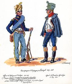 French; 65th Line Infantry, Voltigeur Officer, 1811-13 & Line Infantry, Grenadier Officer, 1809-10 in Spain by H.Boisselier