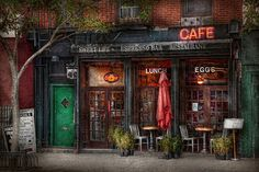 $32 Mike Savad - Greenwich Village, NY - In the noisy bustling city it's sometimes nice to just sit in a quiet area and relax. Surrounded by living trees and plant life, this cafe truly is the Sweet Life. #savad #store #cafe #greenwichVillage #ny: