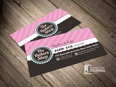 A beautiful and fancy retro bakery business cards templates, available for free download in PSD format at Businesscardjournal