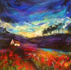 Scottish artist, Moy Mackay, felts these amazing works of art.: