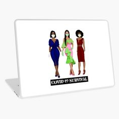 """The Real Sistas - COVID-19 Survival"" Laptop Skin by Smiles4Sistas 