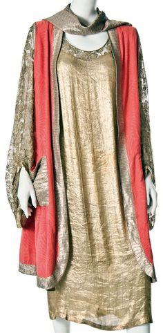 1929 - Lanvin. Silk, metallic.