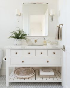 95 modern farmhouse master bathroom renovation with delta the process & reveal 54 Boho Bathroom, Bathroom Colors, Modern Bathroom, Small Bathroom, Master Bathroom, Bathroom Ideas, Bathroom Trends, White Vanity Bathroom, Minimalist Bathroom