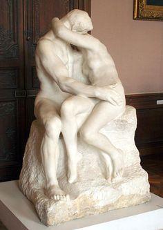 Las 10 obras de arte más románticas: Rodin, El beso