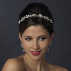 Vintage Inspired Crystal and Pearl Wedding Headband - just beautiful!