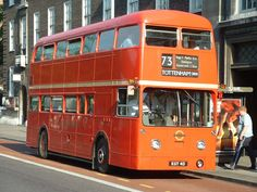 FRM1 on route 73. It was the only rear-engined, front entrance Routemaster ever built
