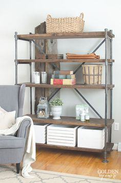 diy industrial furniture industrial piping industrial pipe shelving unit thegoldensycamorecom furniture 177 best diy furniture images on pinterest in 2018