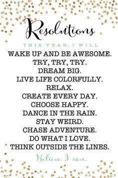 Free Printable New Years Resolution Motivators #freeprintable #newyear #resolution
