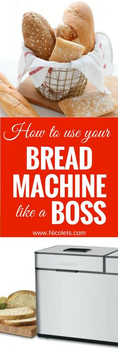 How to Use Your Bread Machine like a Boss – or a Baker! – Nicole Is How to use your Bread Machine like a Boss… or a Baker! Best Pizza Dough Recipe Bread Machine, Best Bread Machine, Bread Maker Recipes, Easy Bread Recipes, Cooking Recipes, Cake Recipes, Caesars Salad, Bread Shop, Bread Starter