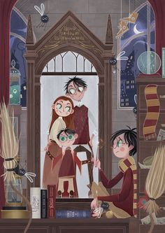 Harry Potter Illustration by Giada Gatti Fanart Harry Potter, Harry Potter Artwork, Mundo Harry Potter, Harry Potter Illustrations, Harry Potter Drawings, Harry Potter Wallpaper, Harry Potter Love, Harry Potter Universal, Harry Potter Fandom
