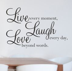 live laugh love decal - Google Search