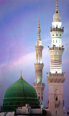 Meraj (Night Ascension) – Isra and Miraj (Night Journey) – Shab-e-Meraj – Lailat-ul-Miraj – Miraj-un-Nabi Al Masjid An Nabawi, Masjid Al Haram, Mecca Masjid, Islamic Images, Islamic Pictures, Beautiful Mosques, Beautiful Buildings, Islamic Architecture, Art And Architecture