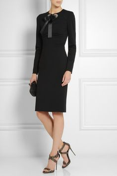 Alexander McQueen   Crystal-embellished jersey dress   NET-A-PORTER.COM