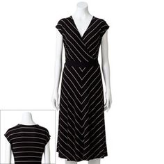 Croft & Barrow Printed Surplice Dress - Women's #kohls