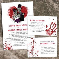 Zombie wedding invites