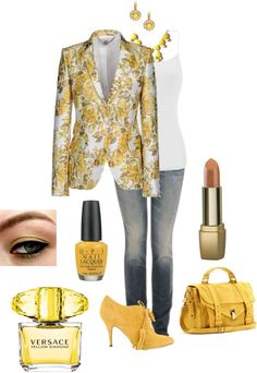 """""""Yellow Jaquard"""" by in2song on Polyvore"""
