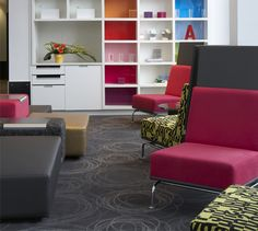 Discover how our Alt Hotels challenge conventions across Canada with comfortable, well-thought-out and trendy design rooms. Architecture Design, Well Thought Out, Quebec City, Floor Chair, Bookcase, Shelves, Luxury, Room, Furniture