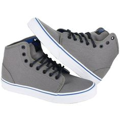 629ebae467 Vans Mens 106 Hi Canvas Skate Sneakers (49 CAD) ❤ liked on Polyvore  featuring