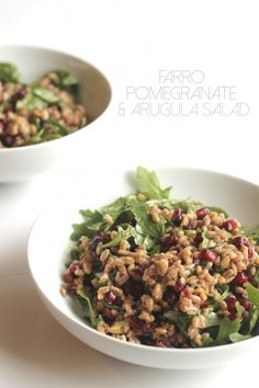 Farro, Pomegranate, and Arugula Salad