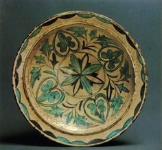 Kala, Dagestan, 13th-14th c. The unrestrained manner of painting and its skilful arrangement on the rounded surface of the dishes testify to the superb workmanship of local craftsmen and a highly developed art of ornamentation.
