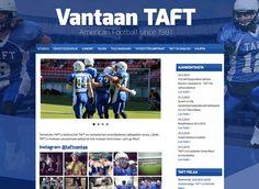 Amerikkalaisen jalkapallon seura Vantaan TAFT sai uudet kotisivut Kotisivukoneen Avaimet käteen -palvelun avulla.