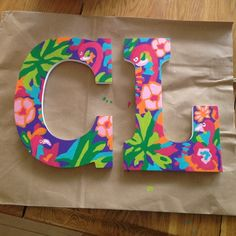 Lilly Pulitzer inspired letters Completely customizable, tell me the letter and the print you want and I will make one for you! Lilly Pulitzer Other