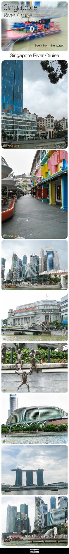 Some of the sights you can see on a Singapore River cruise