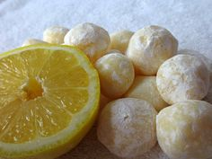"White Chocolate Lemon Truffles ~ Great ""go to"" recipe  when you need to make something on the fly."