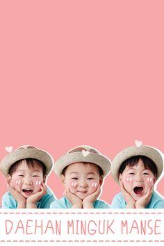 How to have a triplets, I want them so bad! Cute Kids, Cute Babies, Baby Kids, Triplet Babies, Superman Kids, Song Daehan, Man Se, Song Triplets, Korean Babies
