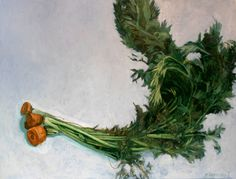 """Carrot Tops, Oil paint on canvas, 27"""" x 36"""", by Mark Granlund"""