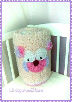 Crochet Pink Baby Newborn Girl Owl Blanket by LindagurumiStore #owlcrochet #crochetblanket #babyblanket #owl #lindagurumistore