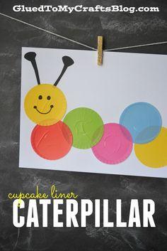Cupcake Liner Caterpillar {Kid Craft}