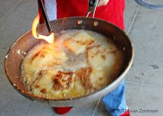 Love in the Kitchen: Saganaki (Flaming Greek Cheese) Greek Recipes, Keto Recipes, Saganaki Recipe, Appetizer Recipes, Appetizers, Greek Cheese, Night Food, Cheese Fries, Cream Cheese Recipes