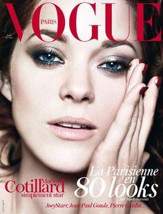 Marion Cotillard by Mario Sorrenti, Vogue Paris, August 2012. Beautiful smoky eyes.