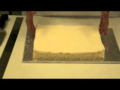 How to Make Petit Fours - Part 1 - Preparing the Cake