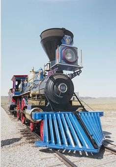 Front view of Locomotive at Promontory Summit, Utah. Choo Choo Train, Railway Museum, Train Pictures, Old Trains, Train Set, Steam Engine, Steam Locomotive, Train Tracks, Paisajes
