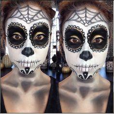 Sugar Skull/Dia De Los Muertos Tutorial http://www.youtube.com/watch?v=-dNmvnFDHy0