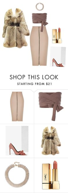 """""""Untitled #101"""" by funmibii ❤ liked on Polyvore featuring River Island, Vanessa Bruno, Jeffrey Campbell, Alexander McQueen and Yves Saint Laurent"""