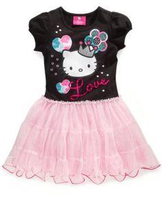 Hello Kitty Girls Dress, Little Girls Printed Tutu